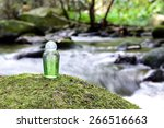 Spa Shampoo On Moss Stone With...
