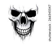 vector skull artwork | Shutterstock .eps vector #266545547