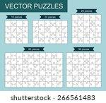 vector set of various blank... | Shutterstock .eps vector #266561483