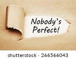 Nobody's Perfect Written Behin...
