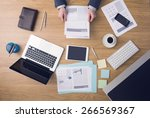 businessman working at office... | Shutterstock . vector #266569367