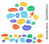 speech bubbles in different...   Shutterstock .eps vector #266583413