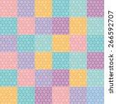 polka dot background seamless... | Shutterstock .eps vector #266592707