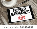 property management concept... | Shutterstock . vector #266596757