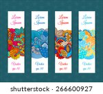 set of web banners with floral... | Shutterstock .eps vector #266600927