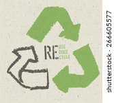reuse conceptual symbol and ...   Shutterstock .eps vector #266605577