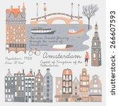 amsterdam  print design | Shutterstock .eps vector #266607593