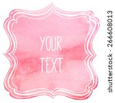 text frame with watercolor... | Shutterstock .eps vector #266608013
