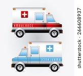 medical care design over white...   Shutterstock .eps vector #266608937