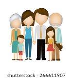family design over white... | Shutterstock .eps vector #266611907