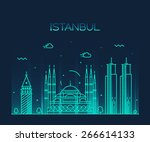 Istanbul City Skyline Detailed...