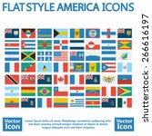 flat style america flags set | Shutterstock .eps vector #266616197