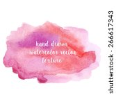 hand drawn abstract watercolor... | Shutterstock .eps vector #266617343