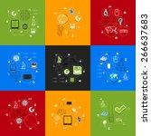 technology sticker infographic | Shutterstock .eps vector #266637683