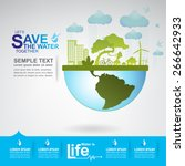 save the water vector | Shutterstock .eps vector #266642933