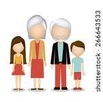 family design over white... | Shutterstock .eps vector #266643533