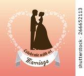 wedding invitation design ... | Shutterstock .eps vector #266652113