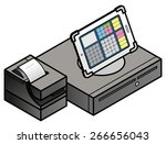 a tablet based pos  point of... | Shutterstock .eps vector #266656043