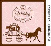 wedding invitation design ...   Shutterstock .eps vector #266656823