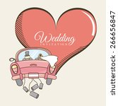 wedding invitation design ... | Shutterstock .eps vector #266656847