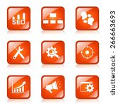 seo internet sign square vector ... | Shutterstock .eps vector #266663693