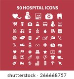 50 hospital  medicine  health... | Shutterstock .eps vector #266668757