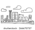 vector illustration of city... | Shutterstock .eps vector #266670737