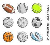 balls american football pigskin ... | Shutterstock .eps vector #266675333