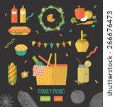 vector illustration family... | Shutterstock .eps vector #266676473