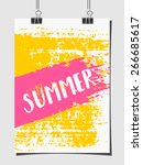 hand drawn brush strokes summer ... | Shutterstock .eps vector #266685617
