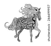 Zentangle Stylized Black Horse...