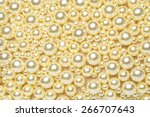 texture of white pearls | Shutterstock . vector #266707643