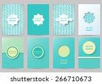 set of brochures in vintage... | Shutterstock .eps vector #266710673