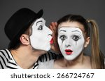 Male Mime Sharing Secret With...