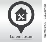 home repair icon  icon map pin. | Shutterstock .eps vector #266732483