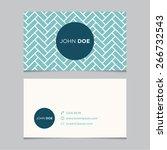 business card template  blue... | Shutterstock .eps vector #266732543