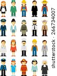 people occupation characters... | Shutterstock .eps vector #266734007