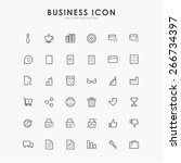 36 business minimal line icons | Shutterstock .eps vector #266734397