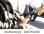 passengers waiting at the... | Shutterstock . vector #266741633