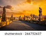 Charles Bridge With Statues An...