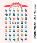 touch gestures and hand icons   ... | Shutterstock .eps vector #266753363