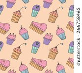 sweets seamless pattern | Shutterstock .eps vector #266758463