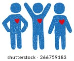 people with hearts signs  | Shutterstock .eps vector #266759183