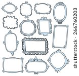 hand drawn frames  | Shutterstock .eps vector #266760203