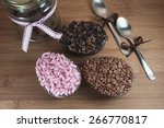 easter chocolate eggs stuffed... | Shutterstock . vector #266770817