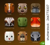 animal faces for app icons set... | Shutterstock .eps vector #266773337