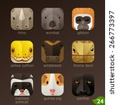 animal faces for app icons set... | Shutterstock .eps vector #266773397