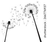 black vector dandelions | Shutterstock .eps vector #266776937