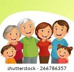 happy family | Shutterstock .eps vector #266786357