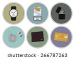 every day carry detailed icons... | Shutterstock .eps vector #266787263